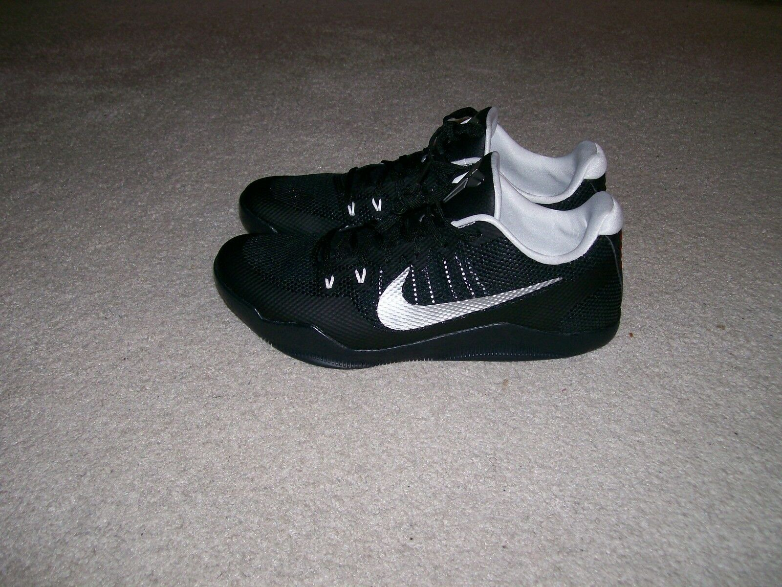 SZ 13 NEW Nike Zoom Kobe XI Protro Black Silver Undefeated 1 IX X IV 856485 001