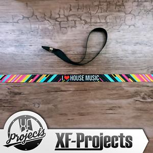 Armband-i-Love-House-Music-Wrist-Festivalband-Stoffarmband-Polyester-Band