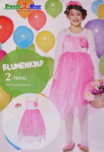 Mädchen Blumenkind Kostüm Fee Elfe Märchen Fasching Karneval Blumenkindkostüm