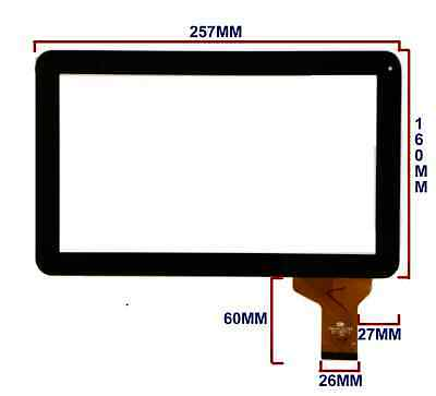 10.1'' Schermo Digitizer Touchscreen Per Polotab Q10.1 Android Ytg-p10025-f1