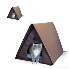 Out Door Kitty Heated House Comfy Cat Room Shelter In Home Sleep Resting Place