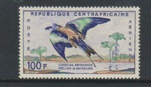 Central African Republic - 1960, 100f Abyssinian Roller Bird stamp - MNH - SG 13