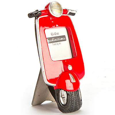 Scooter Retro Vespa Photo Frame Red