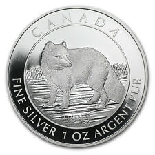 2014 1 oz Silver Canadian $5 Arctic Fox Coin - Box and Certificate - SKU #82131
