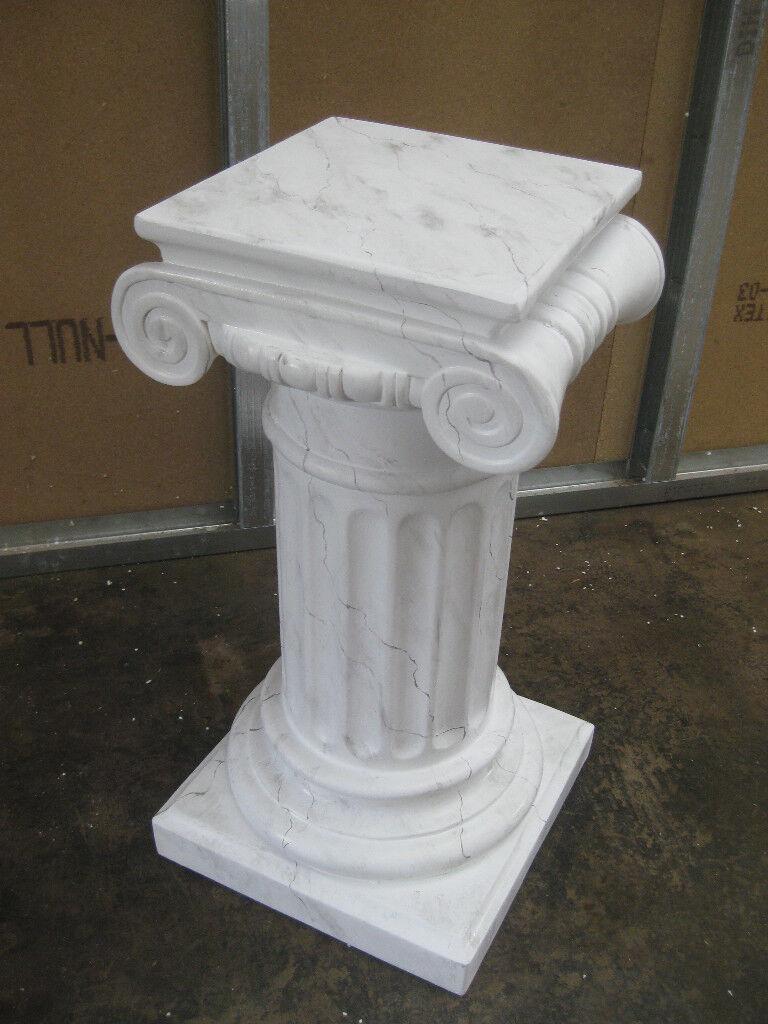 Pilar griego, altura 71cm flores pilares decorativas pilares cararaweissmarmoriert