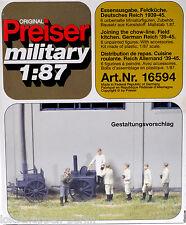 Preiser military 16594 Essenausgabe Feldküche Wehrmacht WK 2[G]