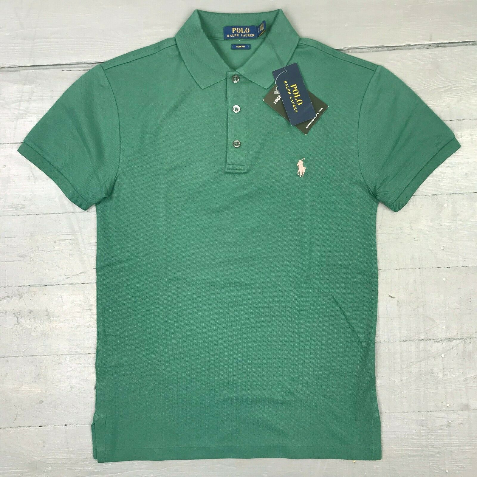 Ralph Lauren - Slim Fit Mesh Polo Shirt in Green - Size XXL - RRP