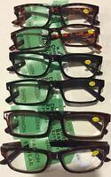 2 Pr/$6.99 3.75 Only Reading Glasses - Unisex - Brown Or Black Or Tortoise