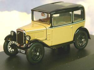 SUPERBE-OXFORD-DIECAST-1-43-1932-AUSTIN-SEVEN-7-RN-BERLINE-EN-FAON-amp-NOIR-ASS001