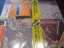 ROD STEWART JAPAN OBI MERCURY YEARS69-74 CD BOX SET +  MINT CONDITION 4 LP SET