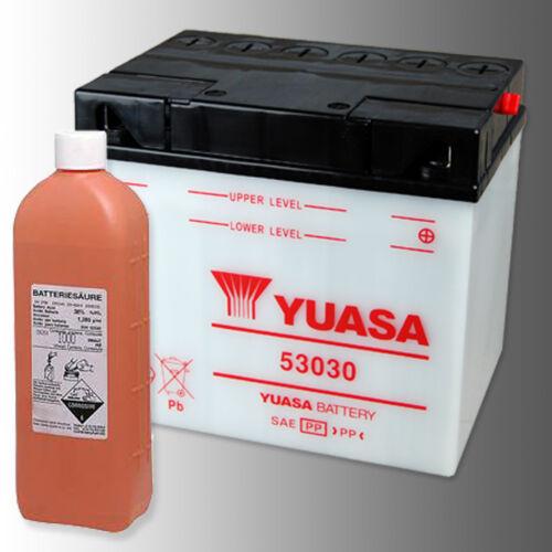 Yuasa 53030 Batterie Moto 12 V 30ah Yumicron Incl Flacon d/'électrolyte