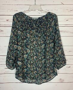 Daniel-Rainn-Stitch-Fix-Women-039-s-S-Small-Floral-Button-Cute-Top-Blouse-Shirt