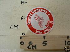 STICKER,DECAL GERARD VERHOEVEN 500CC MAICO NO 52 BOEKEL MOTOCROSS MX