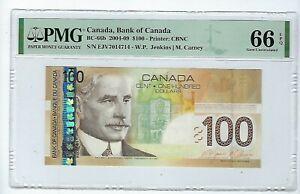 Bank of Canada 2004-09 $100 BC-66b- EJV - PMG Gem UNC 66 EPQ