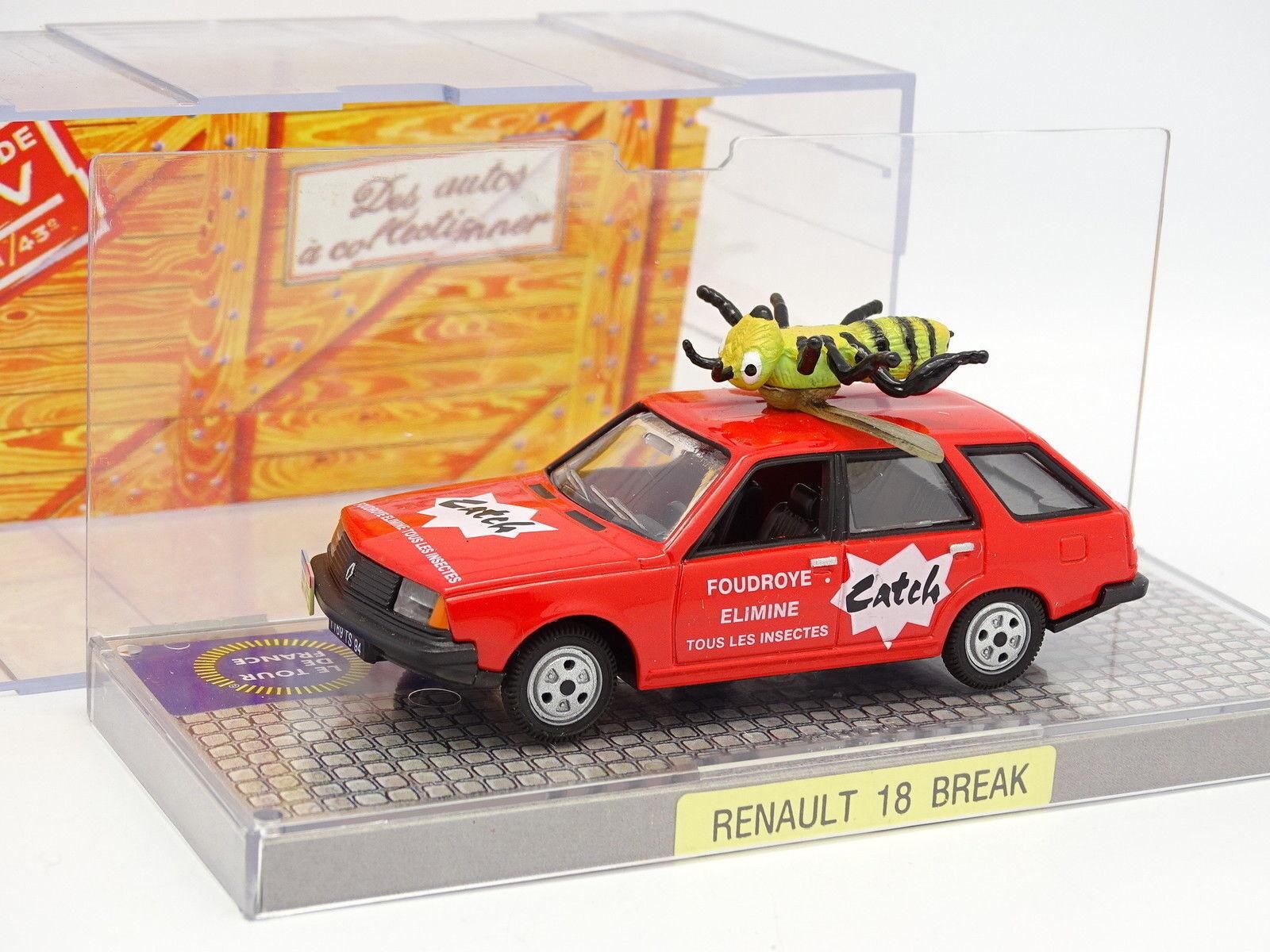 Norev 1 43 - Renault 18 Break Catch Tour de France 1979