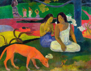 The-Red-Dog-Paul-Gauguin-Fine-Art-Print-on-Canvas-Giclee-Reproduction-Small-8x10