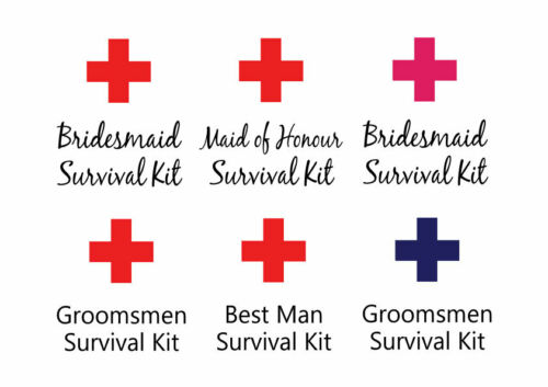 Groomsmen and Bridal Party Survival Kit Muslin Bags Bridesmaid