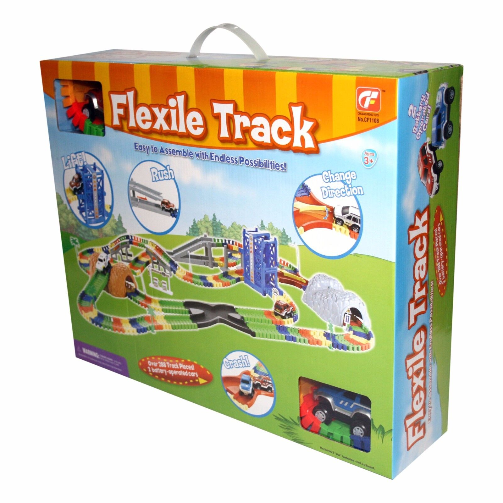 Create a Road Flexile Car and Track Set over 288 pieces