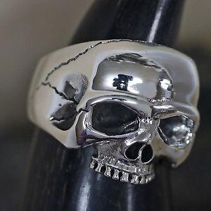TOP-dr-skull-Half-Skull-Silberring-925-Silber-Herrenring-massiv-Skullring-Biker