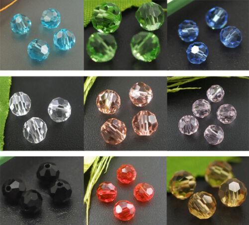 100 Perles cristal verre Facette Rond 6mm M0148