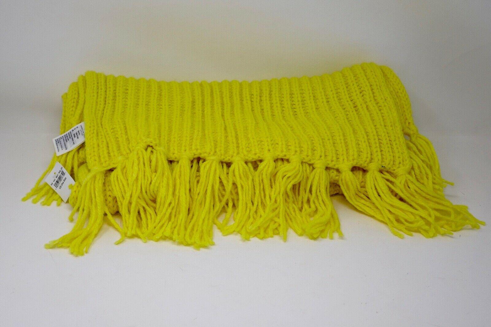 America Eagle Outfitter Neon Yellow Knit Acrylic Blend Oversized Scarf w/Tags