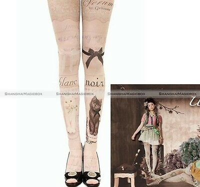 Trendy Sexy Tattoo Pattern Sheer Pantyhose Tights Stockings Harajuku Lolita