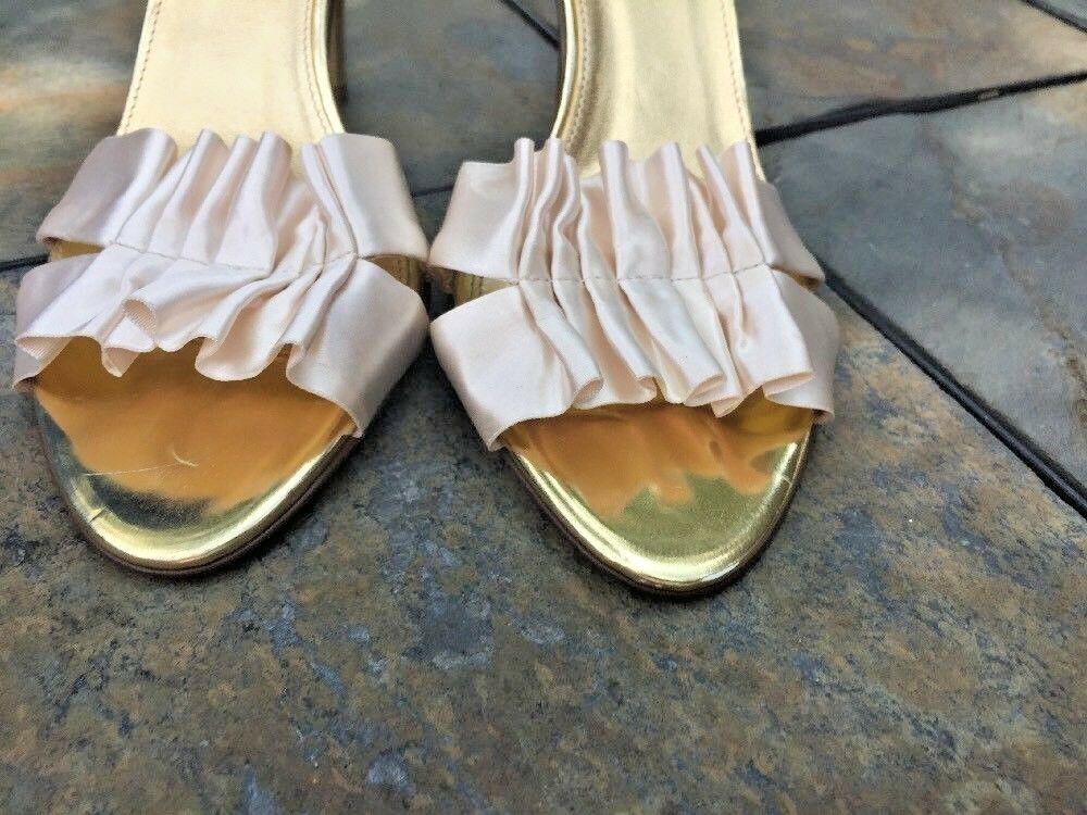 J crew de Boda de Colmena de Boda oro y Crema Zapatos Tacones Altos Zapatos De Mujer Talla 6.5  dc0b95