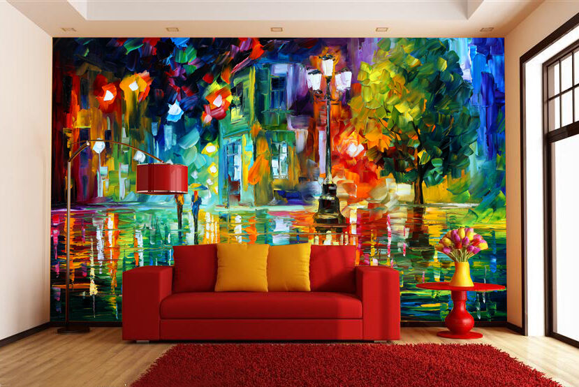 3D color Oil Painting 1 Wall Paper wall Print Decal Wall Deco Wall Indoor Murals