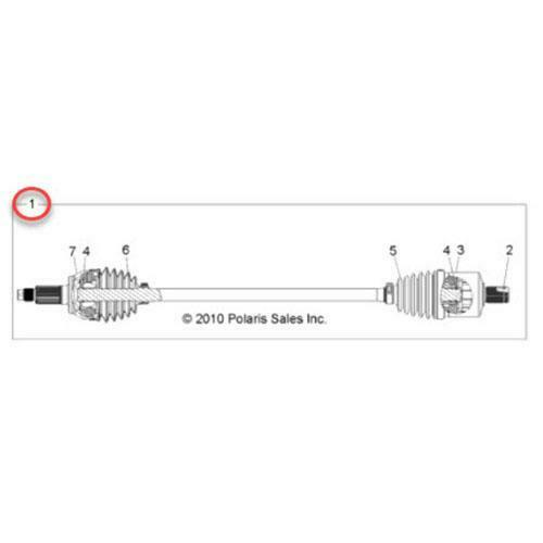 Front Half-Shaft Assembly 1332825 - Polaris RZR 900 11-14, RZR 4 12-13