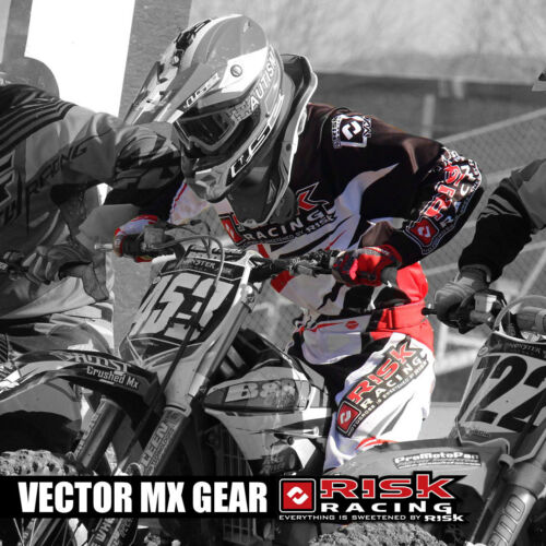 Risk Racing Vector MX Motocross Race Jersey Top Red Black Gear Extra Large