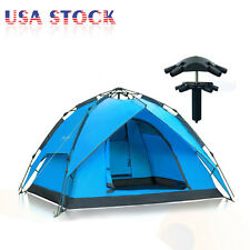 Hydraulic Self Pop Up Double Layer Camping Tent 3-4 Person Waterproof Automatic