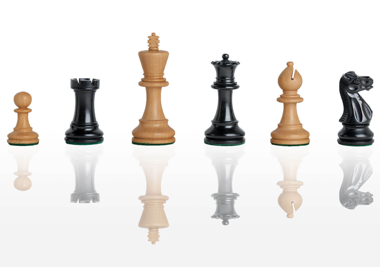 The Grandmaster Chess Set - Pieces Only - 3.25  King - Ebonized Boxwood