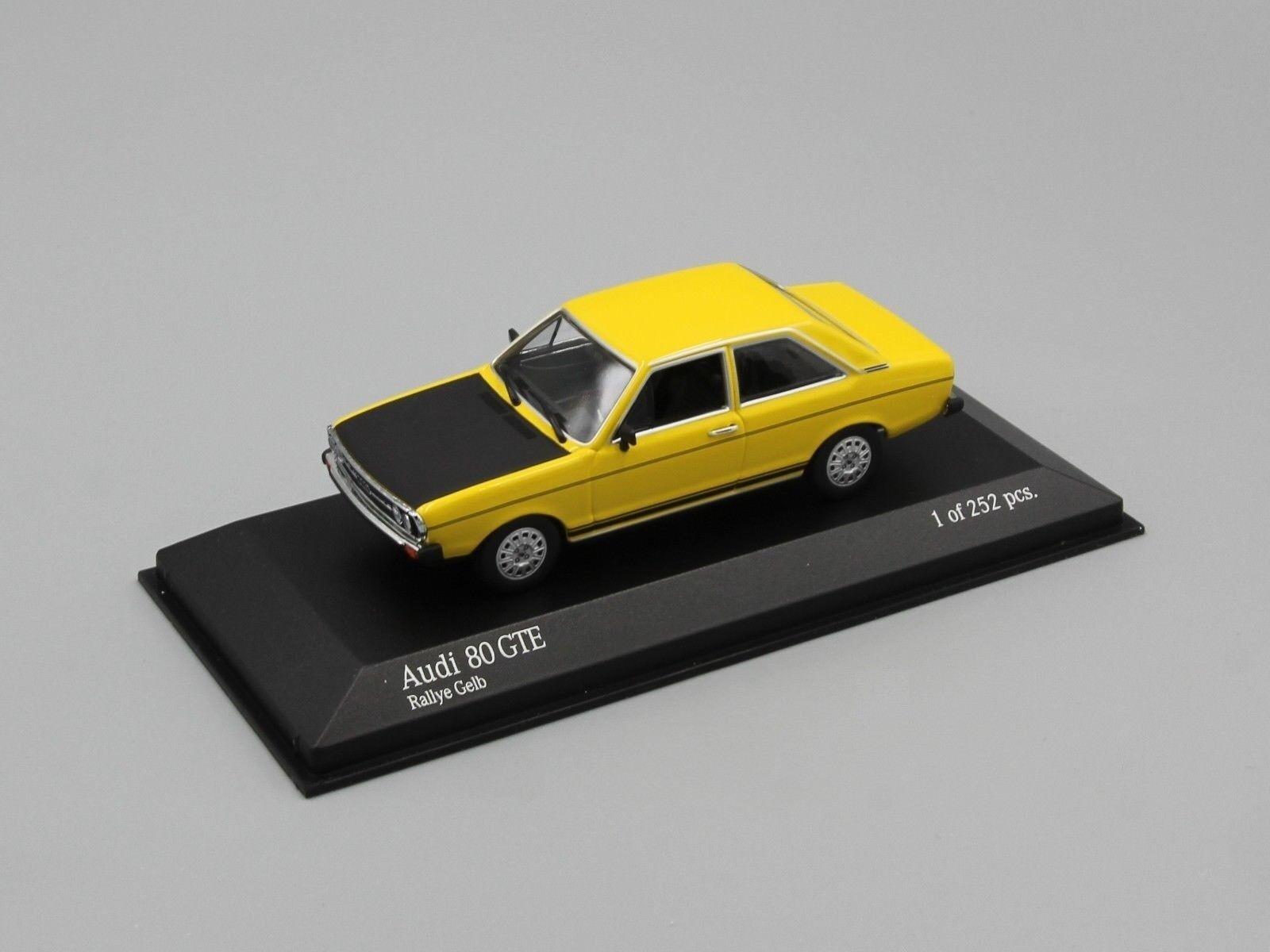 Der audi 80 gte - rallye - gelb 1975 minichamps 400015004 1   43 Gelb gelbe gallia gt   e