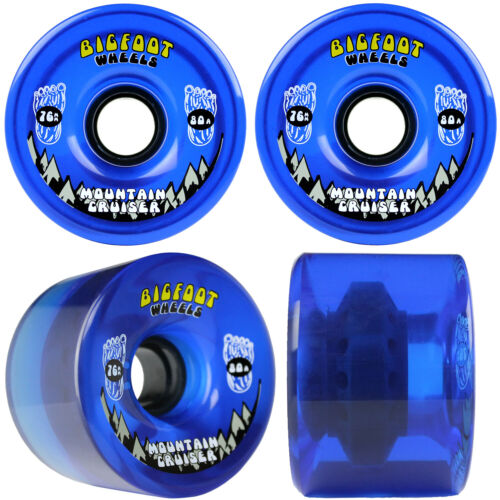 BIGFOOT 76MM CRUISERS BLUE LONGBOARD Trucks//Wheels//Bearings SILVER 7.0