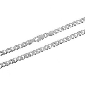 Solid-Italian-925-Sterling-Silver-4-5mm-Cuban-Curb-Link-Bracelet-Chain-Necklace