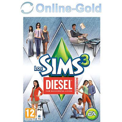 Los Sims 3 Diesel Accesori expansión Add-on PC/MAC Origin juegos [EU][ES][Nuevo]