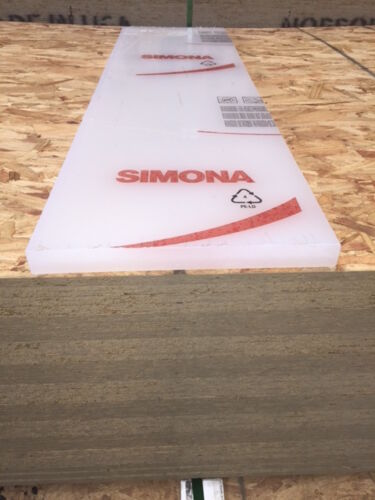 SIMONA 1'' POLYPROPYLENE SHEET 10 X 38 NATURAL EASY TO MACHINE PLASTIC