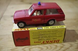 Dinky-Fire-Chief-039-s-Car-Range-Rover-No-195-Boxed