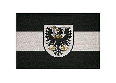 Aufnäher Westpreussen Preußen Fahne Flagge Aufbügler Patch 9 x 6 cm