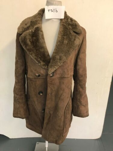 Armhule Vintage rs116 23 Vintercoat Brun Lgth Armhule 37 Real Sheepskin q0xr0wgX