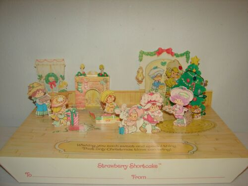 Vintage Strawberry Shortcake Lot 2 NOS Christmas Gift Box Paper Play Sets READ