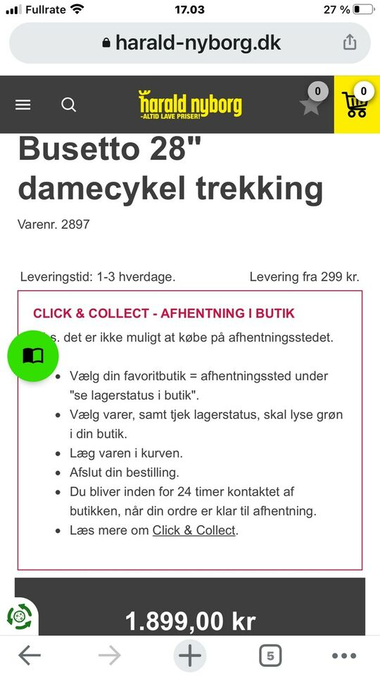 Damecykel, Busetto, Tregging