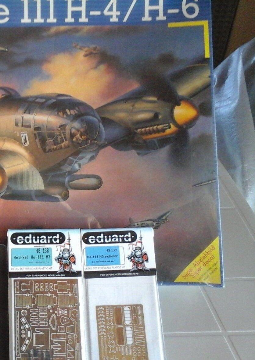 Heinkel 111 H 4 / H 6 1 / 48スケール・モデルL . 2フォトエッチングされた部品Eduardsアクセス。