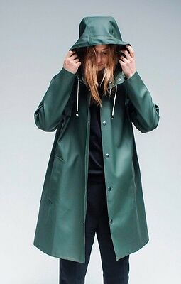 Stutterheim Unisex Dark Green Moseback Style Raincoat MEDIUM