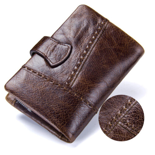 Cowhide Men/'s Genuine Leather Long Hollow Out Wallet Money Card Holder Clutch