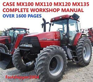 case mx100 mx110 mx120 mx135 mx service manual tractors repair rh ebay com case ih mx 120 service manual Case 120 Garden Tractor