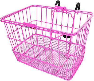 BASKET SunLite Front WIRE//MESH L//O Standard Pink w//BRACKET