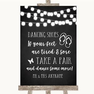 5fdad276e Chalk Style Black   White Lights Dancing Shoes Flip Flops Wedding ...