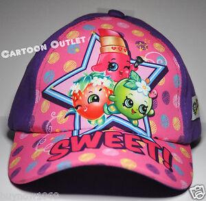 Shopkins Besties for Life Baseball Hat Kids Adjustable Cap Girls Hat Purple