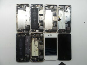 Apple-iPhone-4-and-5-Broken-not-working-for-parts-only-LOT-OF-8
